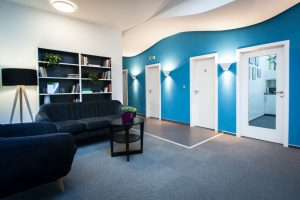 Blue Dynamic interiér kanceláří